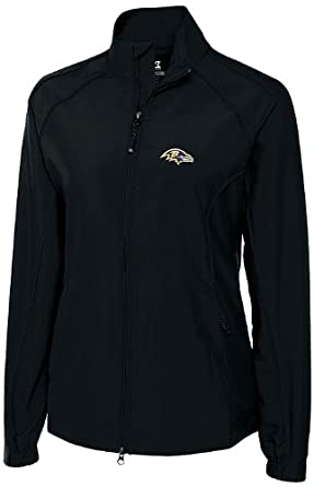 NFL Baltimore Ravens Ladies CB WindTec Astute Full Zip Windshirt, Black, Large by Cutter & Buck