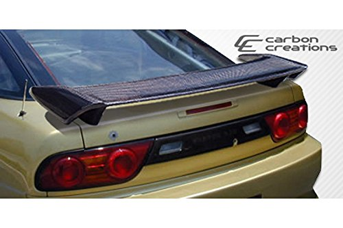 Painted Black Trunk Lip Spoiler R For Nissan 240SX S13 Coupe 89-94 Gen 1