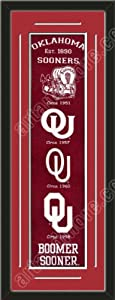 Heritage Banner Of Oklahoma State With Team Color Double Matting-Framed Awesome &... by Art and More, Davenport, IA