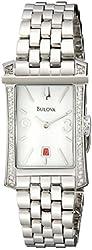 Bulova Women's 96R187 Analog Display Analog Quartz Silver Watch