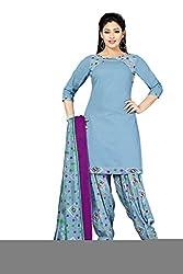 RK Fashion Womens Cotton Un-Stitched Salwar Suit Dupatta Material ( VARIETY-GANPATI-SUPRIYA-203-Grey-Free Size)
