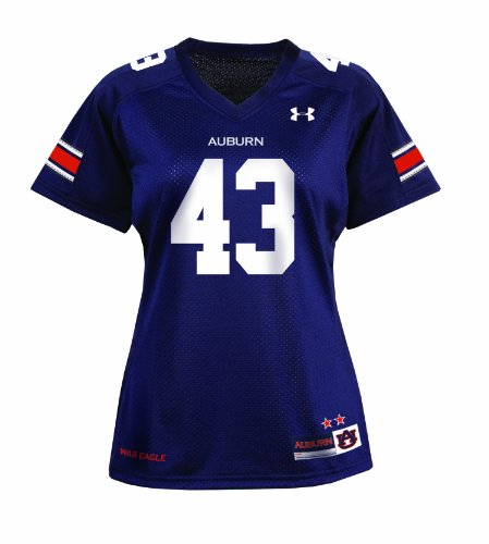 NCAA Women's Auburn Tigers #43 College Replica Football Jerseys (Blue, Xlarge) at Amazon.com