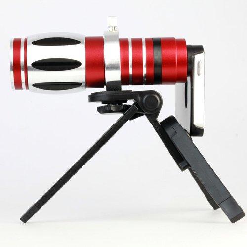 17X Zoom Optical Telescope Camera Lens Kit +Mini Tripod & Case For Iphone 5,5S