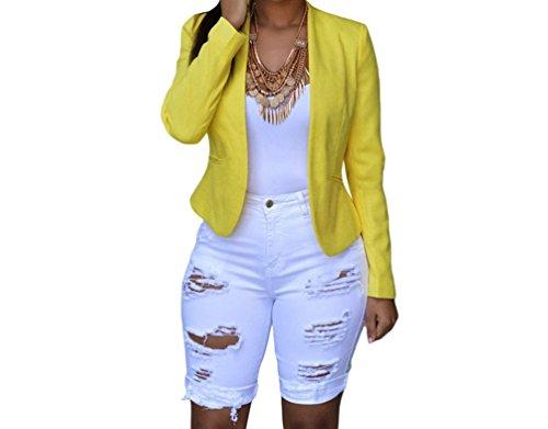 PEGGYNCO Womens White Denim Destroyed Bermuda Shorts Size XL