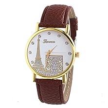 buy Clearance Sale! Women Luxury Eiffel Tower Leather Watch Wensltd(Tm)