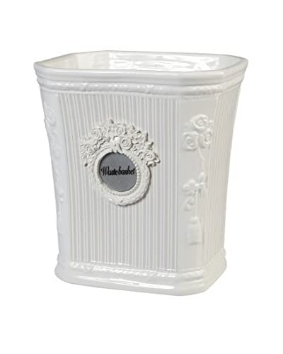 Creative Bath Can-Can Wastebasket, White