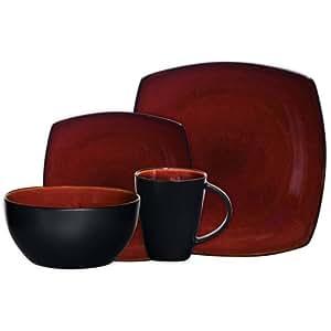 Gibson Home Soho Lounge Square Stoneware 16-piece ...