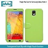 Ahha Arias Magic Flip Case for Samsung Galaxy Note 3 - Green (A-FPSGNOTE3-MA06)