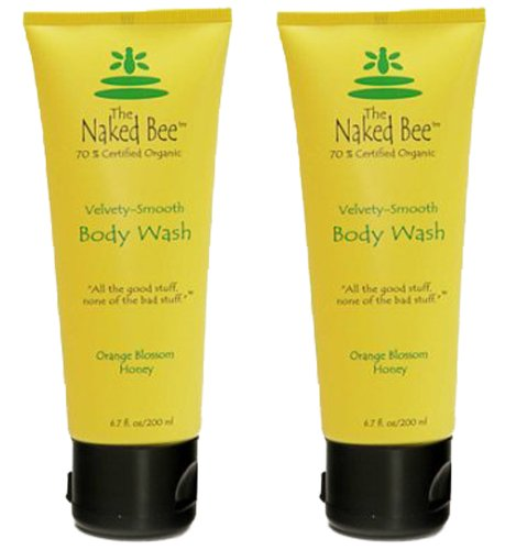 The Naked Bee - Orange Blossom Honey Body Wash 6.7 oz (2 Pack)