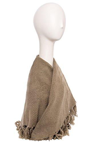 Warm Knit Fringe Scarf