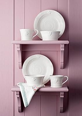 Sophie Conran For Portmeirion Embossed Star Dessert Bowl, White, Set of 4 from Portmeirion