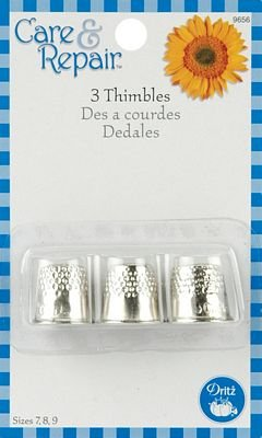 Big Save! Dritz Thimbles Sizes 78 & 9 3/Pkg 9656D