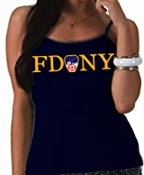 LADIES JUNIOR FIT FDNY TANK TOP (NAVY)