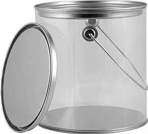 1 Gallon Clear Quot Paint Style Quot Cans W Lids Amp Handles 12