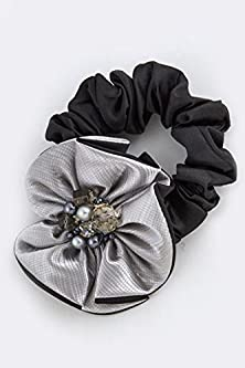 buy Trendy Fashion Jewelry Mix Faux Jewel Ruffle Hair Band By Fashion Destination | (Black/Silver)