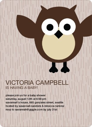 Wise Owl Baby Shower Invites