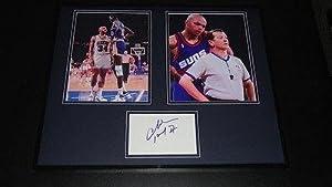 Charles Barkley Signed Photo - Framed 16x20 Set Suns Auburn Rockets TNT by Sports+Memorabilia