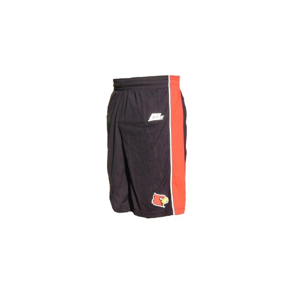 Adidas Louisville Cardinals Black 10? Inseam Replica Basketball Shorts