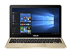 Asus E200HA-FD0006TS 29,4 cm (11,6 Zoll Glare Type) Notebook (Intel Atom X5-Z8300, 2GB RAM, 32GB eMMC, Intel HD, Win 10 Home) gold inkl. Office 365 Personal