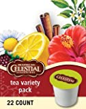 412oPn3qKsL. SL160  Celestial Seasonings Tea Sampler,  K Cup Portion Pack for Keurig K Cup Brewers, 22 Count