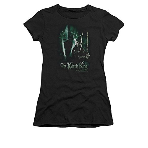 The Lord of The Rings Movie Witch King Juniors Sheer T-Shirt Tee