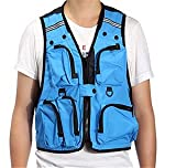 Unisex Blue Multi Pockets Outdoor Vest Fishing Hunting Camping Jacket Hiking Fish Fly Gadget Tools Shop Store Items Stuff Clothes Clothing Apparel Coat Shirt Wear Flyfishing Men Women Boy Girl Buy Lightweight Professional Tackle Bass Rod Reel Trout Sea Ri