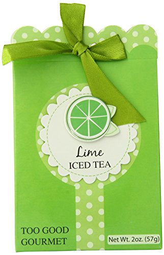 Too Good Gourmet Key Lime Iced Tea With Green Bow, (Pack Of 24)