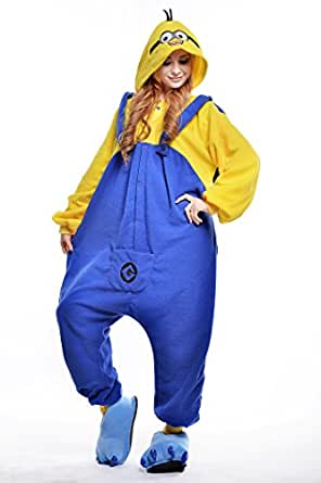New Laugh Minion Sleep Suit Pajamas Adult Anime Cosplay Homewear Costume
