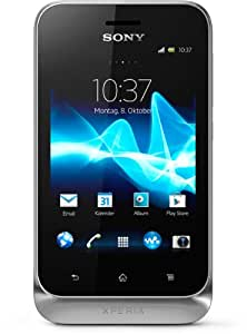 Sony Xperia Tipo Dual Smartphone (8,1 cm (3,2 Zoll) Touchscreen, 3,2 Megapixel Kamera, Dual-SIM, Android 4.0) silber