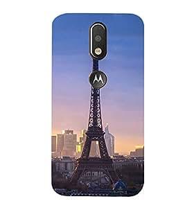 Effie Tower In Evening 3D Hard Polycarbonate Designer Back Case Cover for Motorola Moto G4 Plus
