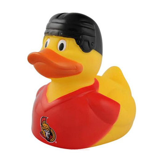 NHL Ottawa Senators Rubber Duckie with Squeak Noise Effect -PACK OF 3