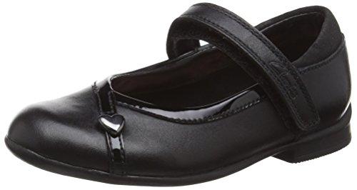ClarksDolly Babe Inf - Scarpe da Ginnastica Basse Bambina , Nero (Nero (Black Leather)), 26
