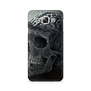 Motivatebox- Skull Brain Premium Printed Case For Samsung E5 -Matte Polycarbonate 3D Hard case Mobile Cell Phone Protective BACK CASE COVER. Hard Shockproof Scratch-