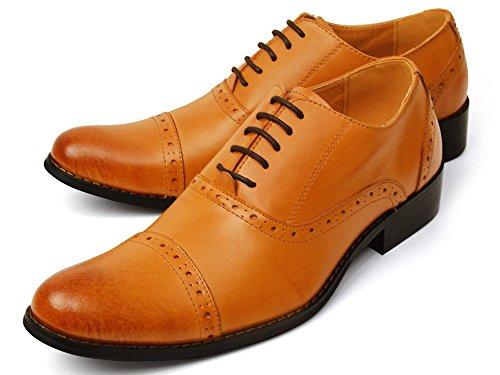 (ビリレ) VIRILE 本革 日本製 幅広 3EEE ビジネスシューズ 革靴 紳士靴 メンズ シューズ ビジネス フォーマル 26cm 【C】782 ライト ブラウン