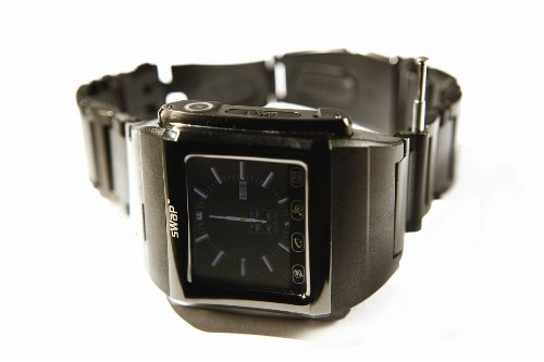 MOSALE Classic Smart Mobile Phone watch - Black (Web access, Camera, Video, Music, Photo)