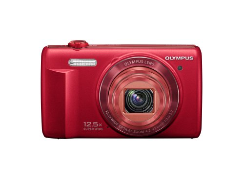 Olympus VR-370 16MP Digital Camera with 3-Inch LCD (Red)
