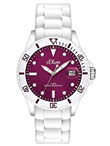 s.Oliver Damen-Armbanduhr Analog Quarz Silikon SO-2711-PQ