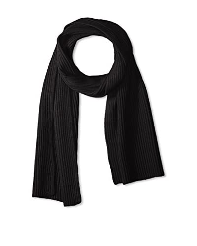 Portolano Men's Ribbed Scarf Knit, Black