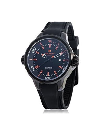 Lancaster Men's Black/Orange Leather Watch