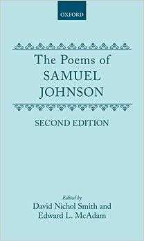 The Poems of Samuel Johnson: Amazon.co.uk: Samuel Johnson ...