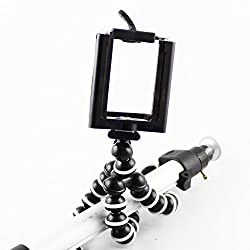 Camera Selfie Stand Gadget Car Phone Holder Flexible Octopus Tripod ,Portable And Adjustable For All Mobiles-Black