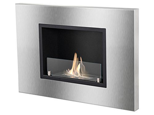 Ignis Quadra Recessed Ventless Ethanol Fireplace with Opera-glasses