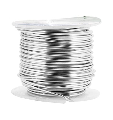 Mandala Crafts® Colored Aluminum 16 Gauge Jewelry Making Beading Craft Wire, 100 Ft (Silver)