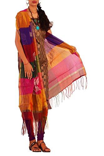 Unnati Silks Women cream supernet Punjabi suit with dupatta