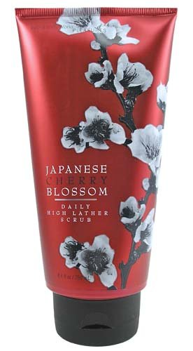 Bath &amp; Body Works Japanese Cherry Blossom Pleasures Collection Daily High Lather Scrub