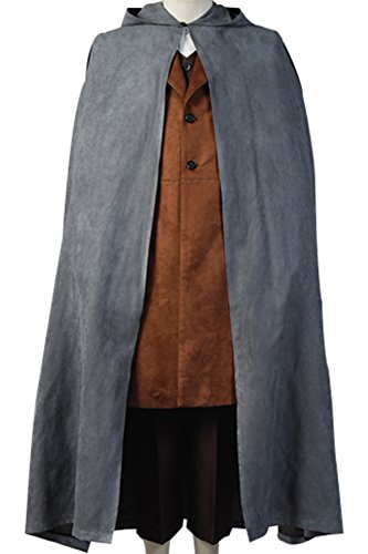 [The Lord of the Rings Costume Frodo Baggins Cosplay Cape Coat] (Frodo Costume Mens)
