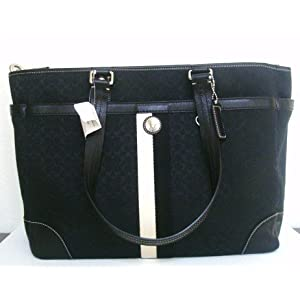 AUTHENTIC COACH SIGNATURE VOYAGER LARGE DIAPER HANDBAG PURSE 13813 BLACK