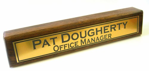 Name Bar Office Name Plate Desk Wood Personalized O