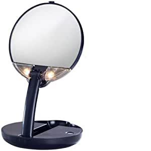 Floxite Lighted Travel Compact Mirror