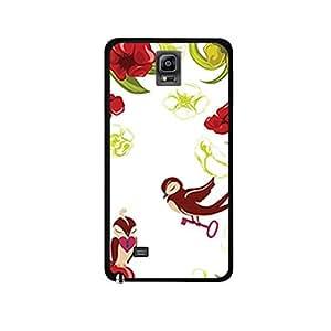 Vibhar printed case back cover for Samsung Galaxy Note 4 BirdAndKey
